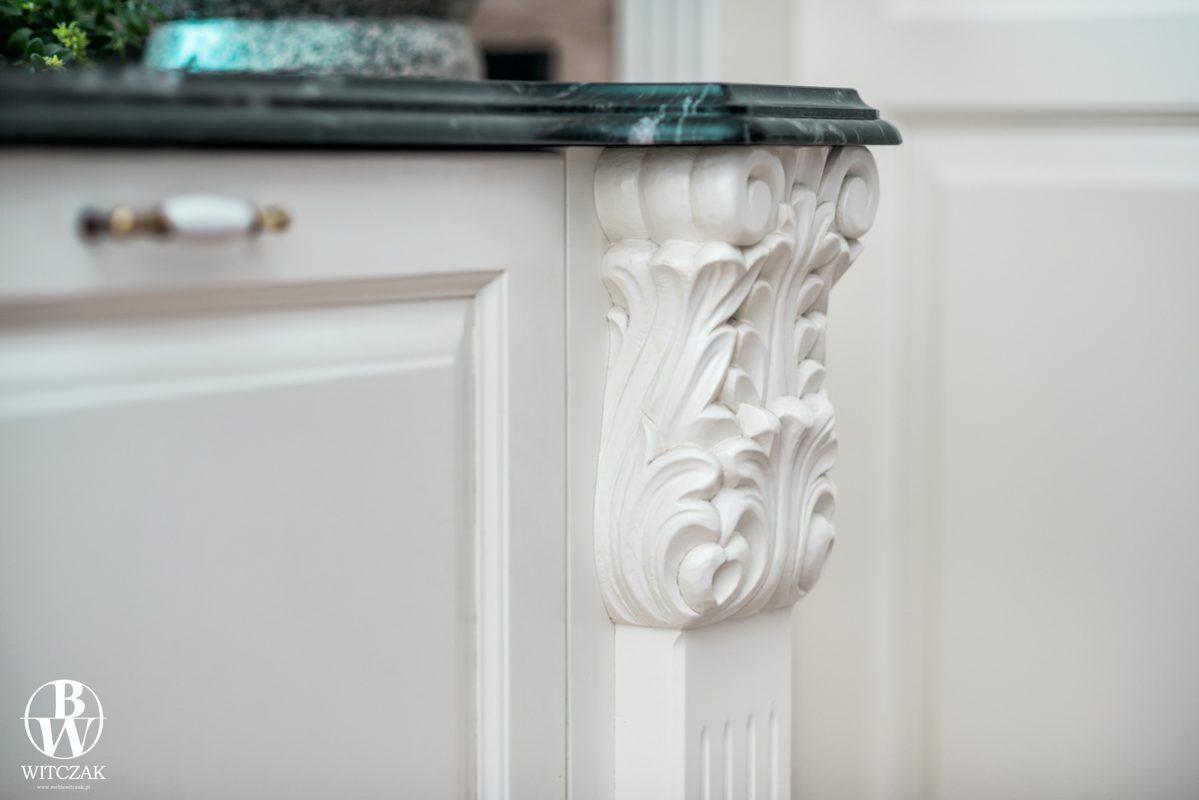 Rzeźbienie do kuchni, detal